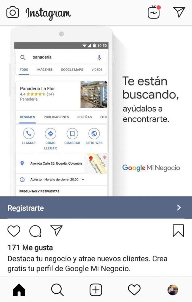 Hasta Google aprovecha las bondades de anunciar en Instagram
